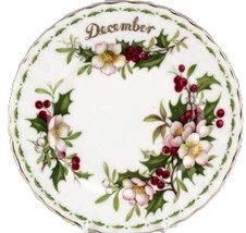 England December, July, October, April Flower Of Month Royal Albert Lunch Plates - $74.24