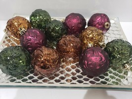 "12 Thanksgiving Fall Woodland Green Brown Ball Christmas Ornaments Decor 2"" - $22.99"