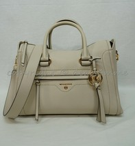 Michael Kors 30S0GCCS2L Carine Medium Leather Satchel/Shoulder Bag in Li... - $279.00