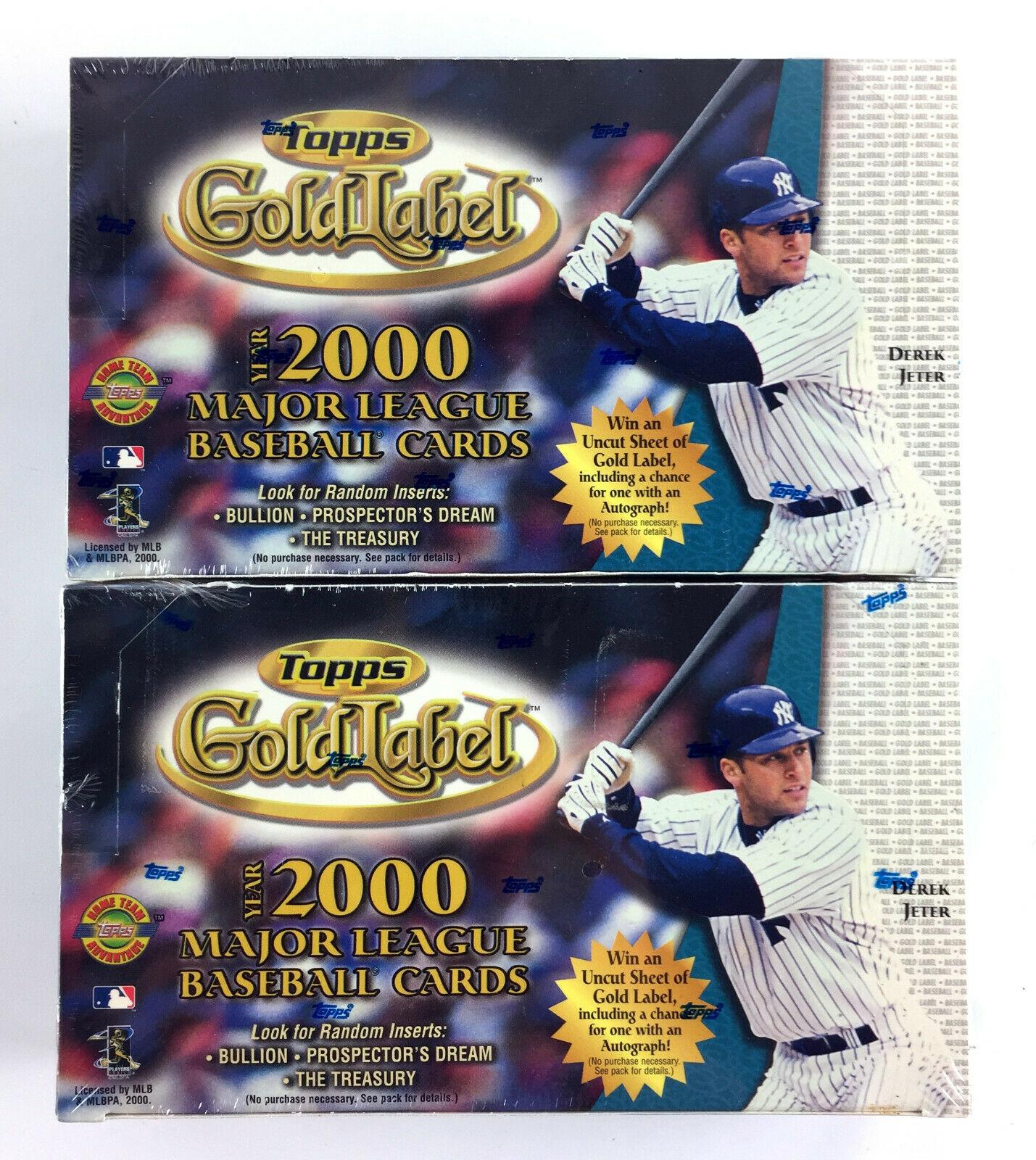 (2) 2000 Topps Gold Label Baseball Box - 24 Packs - 5 Super Premium Cards Per