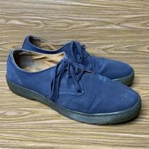 Dr Doc Martens Delray Oxford Shoes Mens Sz 11 US 45 EU Blue Canvas Lace Up - $49.43