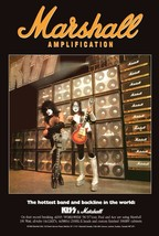 KISS Band Paul Stanley - Ace Frehley Marshall Amps Stand-Up Display - Gi... - $16.99