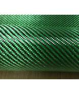 Green Carbon Aramid Fiber Hybrid Fabric Cloth 3K Green Aramid 190gsm Thi... - $43.99