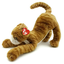 Stretch Kitty Cat Orange Tabby Stretching Ty Classic Plush Stuffed Anima... - $15.81