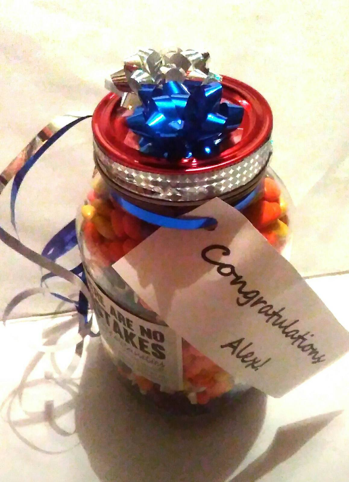 Candy Mason Jar Gift - Candy& Labels Customized for Event