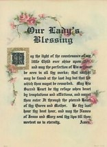 OUR LADY's BLESSING Victorian style repro Catholic Blessed Virgin Mary Print - $19.64