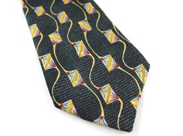 Robert Talbott Best of Class Tie Mens 100% Silk Black & Gold - $12.88
