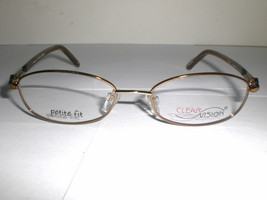 CLEARVISION Designer Women's Eyeglasses Frames Petite 26 Brown 49-17-130 mm - $20.99
