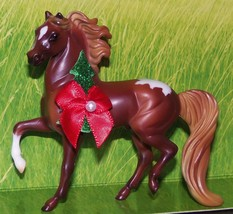 Custom Breyer Stablemate Chestnut Snowcap Appaloosa Prancing Horse Ornam... - $18.00