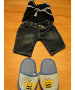 Build-A-Bear Outfit Ensemble - Blue jeans and shirt with bumble bee slip... - $7.35