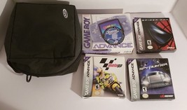 Nintendo Gameboy Advance Glacier Game Boy GBA System In Box w/ Boxed Games - $91.03