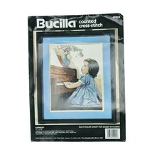 "1994 VTG Bucilla 11""x14"" Counted Cross Stitch Kit HARMONY #40904 Missing... - $24.95"