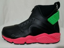 Nike Basketball Shoes Size 9, Air Huarache Run Mid  Hot Punch Black 8073... - $34.64