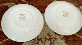 2 Wedgwood BRAMBLE pink SHELL EDGE saucers for teacups (multiple available) image 2