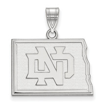 Sterling Silver LogoArt University of North Dakota Medium Pendant - $68.00