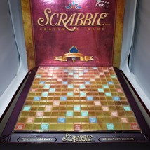 Scrabble Crossword Game 50th Anniversary Edition Turntale Blue Tiles Com... - $45.95