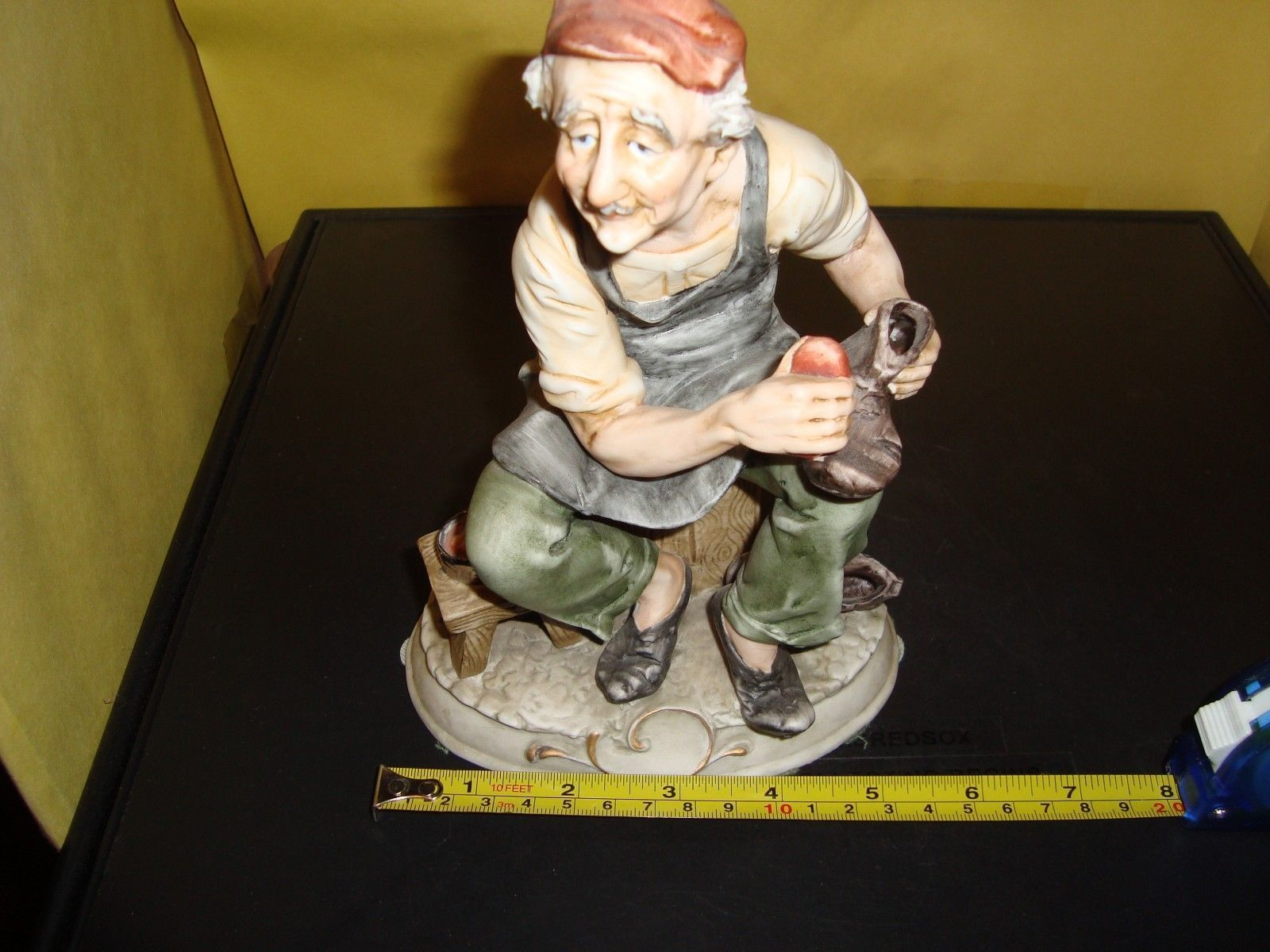 "Arnart Antonio Benni Vintage Porcelain Marked Figure Man Shinning Shoes 8"" Ex image 6"