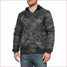 new PROJEK RAW men jacket hooded full zip 133570 black camo sz XL - $36.71