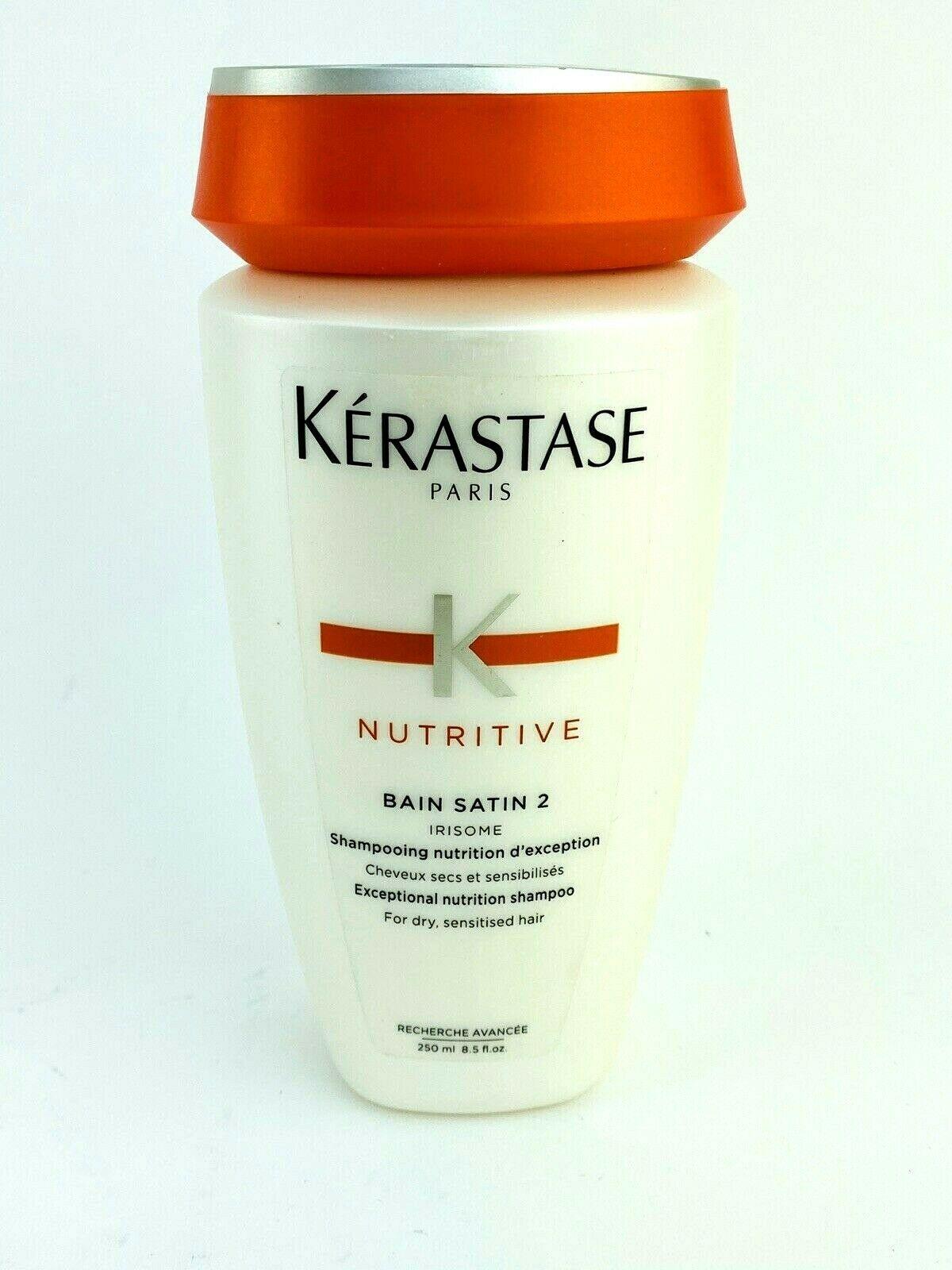 Kerastase Nutritive Bain Satin 2 Complete Nutrition Shampoo 8.5 Oz Hair Care - $23.70
