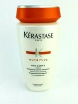 Kerastase Nutritive Bain Satin 2 Complete Nutrition Shampoo 8.5 Oz Hair ... - $23.70