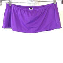 Lands End Mini Swim Skirt Women Size L 14-16 Purple Nylon Stretch - $17.80