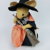 Overly Raker Millie 1993 Mouse Rat Halloween Witch Plush Decor fabric doll  - $14.84