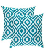 TreeWool, (2 Pack) Throw Pillow Covers Ikat Ogee Accent Decorative Pillo... - $18.99