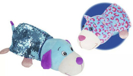"""FlipaZoo 14"""" Large Carys Kitty and Pebbles PuppySequin Stuffed Animal W Tags - $17.32"""
