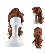 Disney Princess Beauty and the Beast Belle Brown Hair Cosplay Wig - $38.15