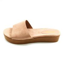 Bamboo Womans Gigi-02 Platform Slide Sandal Beige Cushioned Insole Sz 9 ... - $17.80