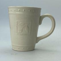Signature Housewares 2001 Stoneware Mugs Cups Sorrento Ivory Cream Debby... - $7.91