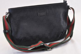 GUCCI Sherry Line Shoulder Bag Black Auth ar929 - $298.00