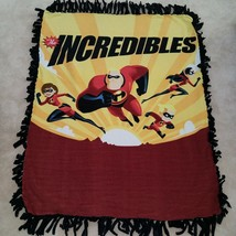 The Incredibles Disney Tie Knotted Fleece Blanket Baby Girl Boy Lap Viol... - $29.65