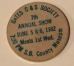 Vintage Gates C&S Society Wooden Nickel 1982 - $4.94