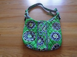 Vera Bradley Olivia Cupcakes Green Navy Quilted Shoulder Bag Purse Small... - $22.00