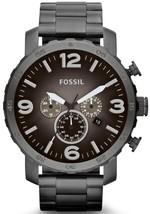 Fossil Nate Chronograph Smoke Grey Dial Jr1437 Men's Watch - $154.50