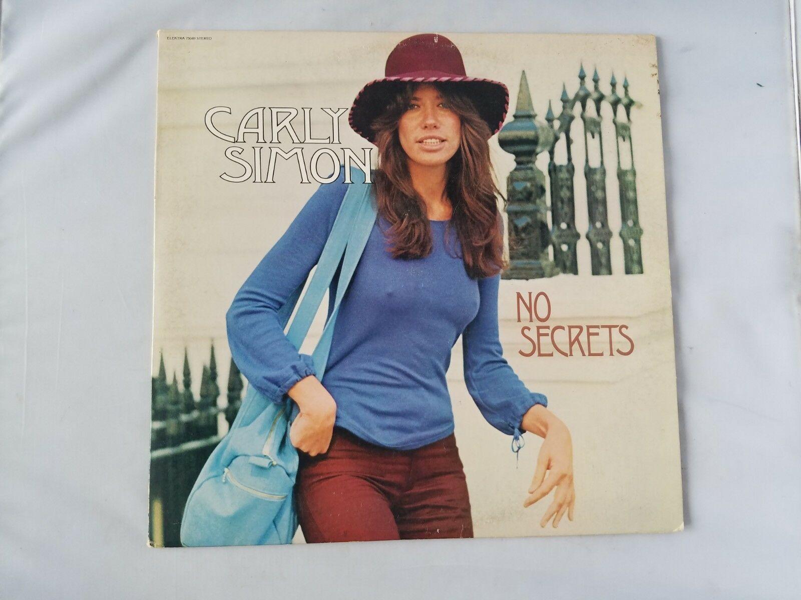 Carly Simon No Secrets Vinyl Record Vintage 1972 Elektra EKS 75049 Stereo