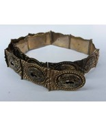 Antique Ottoman Islamic Hand Crafted Sultan Tughra Silver Belt - $467.50