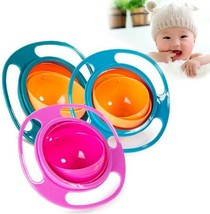 Spill Proof Perfect Bowl Practical Design Children Kid Baby Toy Universal 360 Ro - $7.99