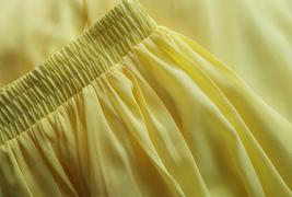 YELLOW High Waist Chiffon Skirt Wedding Chiffon Skirt Yellow Bridesmaids Outfit image 6