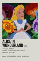 1951 Disney Alice In Wonderland Movie Poster Print > Mad Hatter > Tea Pa... - $7.69