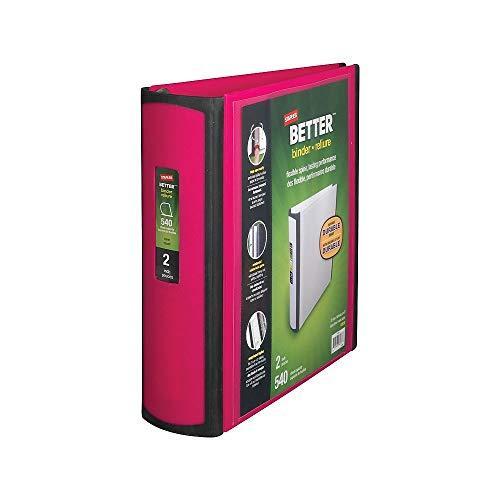 Staples Better Binder, 2-Inch, Pink