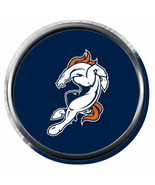 Blue Bucking Bronco Denver Broncos NFL Football 18MM - 20MM Snap Jewelry... - $5.95