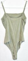 Le Lis Women's Mint Green Corduroy Ribbed Knit Square Neck Sleeveless Bodysuit S image 2