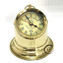 Christmas Time Piece Hour Watch Brass Clock Nautical Maritime Victoria Clock Des - $36.96