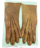 Vintage Alexette Italy Women's leather Gloves Prime Quality brown Size 6... - $19.80
