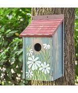 Gardirect Retro Painted Bird House, Wooden Bird Nesting Box - $28.05