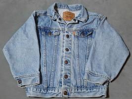 1980s Vintage Little Levis Orange Tab Light Acid Wash Denim Jean Jacket ... - $24.03