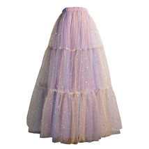 Women Layered Long Tulle Skirt Outfit Rainbow Color Plus Size Princess Outfit image 1