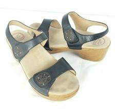 Dansko Open-Toe Sandals Size 42 (US 10) Black Leather - $98.99